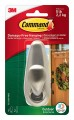 Command Outdoor Forever Classic Metal Hook, Large, Brushed Nickel, 1-Hook with Foam Strips (FC13-BN-AWES)