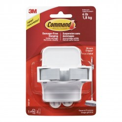 Command Plastic Broom Gripper(White,1 hook and 2 strips)