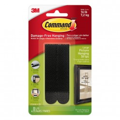 Command Large Picture Hanging Strip(Black, Pack of 4)