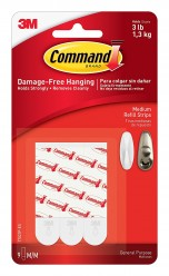 Command Medium Refill Strip (White, Pack of 9)